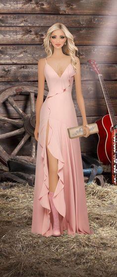 Barn Dance Elegant Dresses, Cute Dresses, Beautiful Dresses, Formal Dresses, Fashion Dress Up Games, Fashion Dresses, Fashion Design Classes, Sweet Dress, Mode Inspiration
