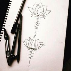 Unalome/lotus flower