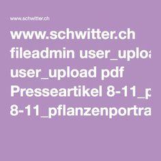 www.schwitter.ch fileadmin user_upload pdf Presseartikel 8-11_pflanzenportrait.pdf