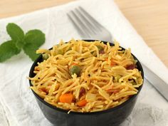 Semiya Upma - Vermicelli cooked with vegetables and spices