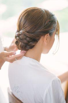 braided low bun wedding hair #HairStyles