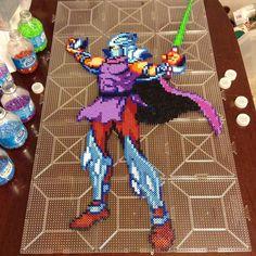 TMNT Shredder perler beads by perler_purrs Hama Beads Patterns, Beading Patterns, Perler Bead Art, Perler Beads, Nija Turtles, Bead Kits, Fuse Beads, Mutant Ninja, Teenage Mutant