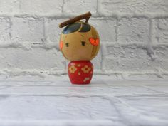 SOLD Vintage Kokeshi Doll, Vintage Doll, Japanese Doll, Small Kokeshi Doll, Vintage Toy by MuskRoseVintage on Etsy