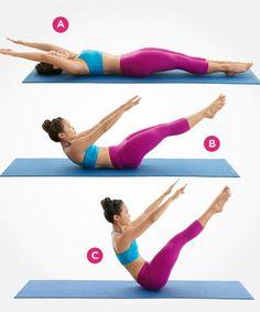 Teaser I http://www.womenshealthmag.com/fitness/pilates-abs-workout/the-hundred/slide/8
