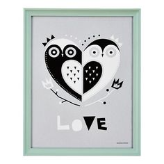 Owl Always Love You Framed Wall Art in All Wall Art | The Land of Nod