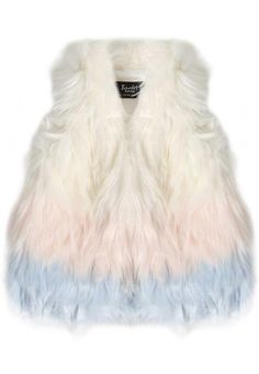 The ultimate wardrobe must-have for the stylish trend setter!Crafted in a soft faux fur with open front, relaxed fit and soft ombre colouring. Pair over a dress or Bardot denim with a cute top!Also available in Little Girl's 4-7Fabric Content: 80% Acrylic, 20% Polyester