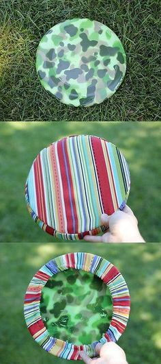 Sew Sunny Frisbee - Skip boring and simple Frisbees this summer and learn how to make a fabric cover for Frisbees. The Sew Sunny Frisbee is the perfect alternative to boring old Frisbees and it is much safer too. If you have a pooch who likes to bit holes in your plastic Frisbees, this tutorial may dissuade them or, at least, make your toys last longer. Plus, you can avoid getting plastic slivers from cheap frisbeess but just adding a bit of fabric. You kids will love this free sewing…