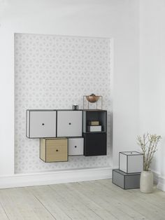 Modern By Lassen Danish and Scandinavian style floating Bookshelf and Bookcase. Great for storage space!
