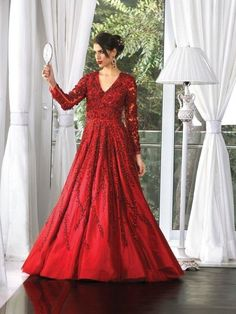 Wedding Cocktail Gowns - Red Cocktail Gown | WedMeGood  Find More on wedmegood.com  #wedmegood #gowns #red