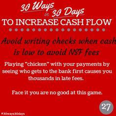 Stop paying NSF fees. #30ways30days