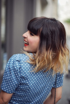 Short wavy hair, with Ombre