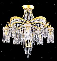 The ornate Victorian chandelier by Schonbek exhibits Victorian style at its best. Lantern Chandelier, Luxury Chandelier, Chandelier Lighting, Crystal Chandeliers, Semi Flush Ceiling Lights, Flush Mount Lighting, Victorian Chandelier, Bubble, Antique Lighting