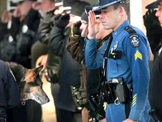 Beloved Police Dog Honored With Final Salute. And He Earned It. Honoring our heroes in fur.