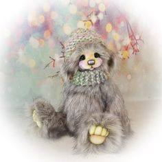Handmade Teddy Bears and Artist Bears - Thousands of collectable bears displayed by the artists themselves. Adopt direct and save. Plush, Owl, Teddy Bear, Bird, Artist, Handmade, Animals, Sweet, Animales