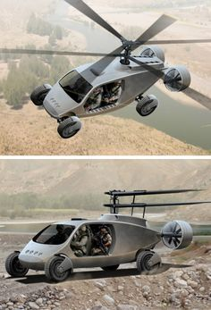 L'AVX TX, un véhicule roulant et volant ! AVX flying-car concept- the vertical Takeoff and landing SUV !