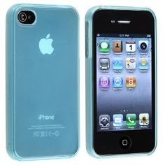 TPU Rubber Skin Case compatible with Apple? iPhone? 4 / 4S , Clear Frost Light Blue $1.77