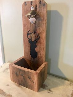 Wall Mounted Rustic Bottle Opener with Deer                      – Home and Pallet