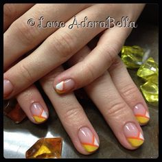 This a fun colorful summer French! #nails #nail #fashion #style #TagsForLikes #cute #beauty #beautiful #instagood #pretty #girl #girls #stylish #sparkles #styles #nailart #art #love #shiny #french #frenchnails #gelpolish #nailswag #gelnails #orange #yellow #follow #loveadorabella — with Cristy Vaughn.