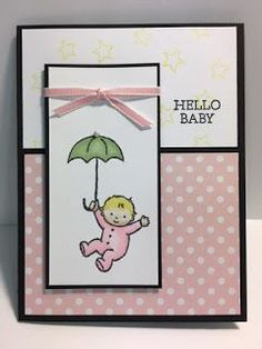 My Creative Corner!: Baby Moon, Baby Girl Card, Stampin' Up!, Rubber Stamping, Handmade Cards, 2017 Occasions Catalog