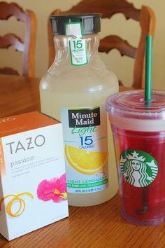 Copycat recipe for Starbucks passion tea   lemonade MY FAVORITE may actually make this one
