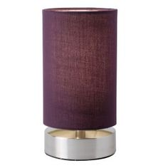 Colliers Pair of Touch Lamps in Aubergine