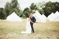 Creative ideas came very easily for TV presenter Bex and business consultant Tom - their relaxed, festival-style wedding in the countryside was filled to the brim with DIY and personal touches and nods to their favourite movies. #diy #wedding #festival #rustic #relaxed #glamping #informal Maryanne Weddings  REVELRY EVENTS - WEDDING PLANNER LONDON