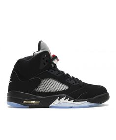 faaf07a1ff4907 authentic air jordan 5 black fire red-mtllc slvr-wht retro og 2016 mens  save off