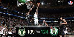 Boston Celtics drop Milwaukee Bucks 124-109 to take sole possession of 4-seed over Miami Heat. Tyler Zeller: 26 points. 4/8/2016