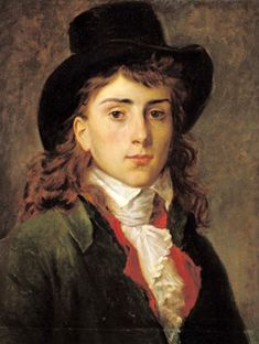 Baron Antoine Jean Gros, aged 20, by Francois Pascal Simon Baron Gerard (1770-1837). Gros (1771-1835) was both a French History & neoclassical painter.