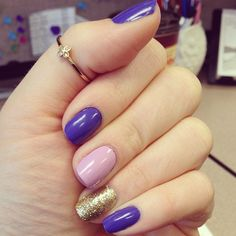 nail art two accent nails