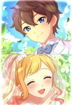 Yume x Subaru ( Anime: Aikatsu Star) Anime Love Couple, Cute Anime Couples, Sailor Moon Background, Star Academy, Anime Wedding, Anime Stars, 8bit Art, Friend Anime, Estilo Anime
