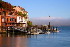 Classic shot of Tiburon, CA Places In California, Northern California, Tiburon California, Cool Places To Visit, Places To Go, Stinson Beach, Marin County, Cali Girl, Waterfront Homes