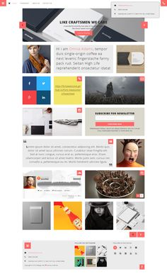 WOW – Personal Blogger PSD Template Published by Maan Ali