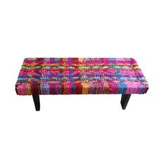 Color Wheel Bench | love the recycled weave!
