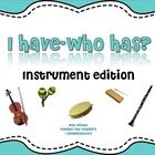 """Kids love the """"I Have/Who Has?"""" game and now they can practice the names of classroom and orchestral instruments with this """"Musical Instruments"""" ve..."""