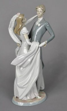 """This #Lladro """"I Love You Truly"""" porcelain #figurine was auctioned in 2012.  The vintage piece reflects Lladro's great attention-to-detail and is still sought after as a wedding day gift and cake topper for modern brides."""