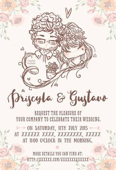 wedding invitation by malena flores
