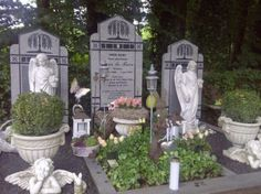 Op een begraafplaats