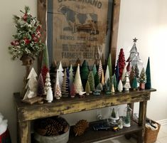 My Christmas forest…. I am fascinated by all the different kinds tha… My Christmas forest…. I am fascinated by all the different kinds that are available these days. Merry Little Christmas, Noel Christmas, Christmas Projects, Woodland Christmas, Christmas Tree Table, Christmas Tree Forest, Christmas Christmas, Christmas Lights, Christmas Cookies