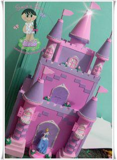 Fazendo arte: Castelo princesas disney em eva