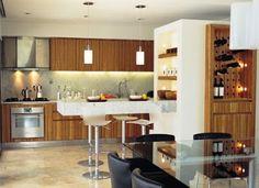 Resultado de imagem para divisor com armario em cozinha americana de apartamento pequeno
