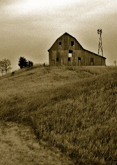 old barn and windmill, my mother-in-law would love this!