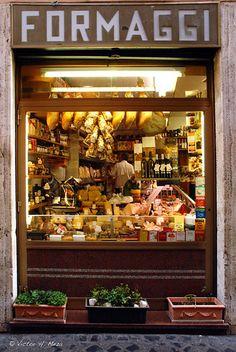 Cheese Store at Rome, Italy / Roma, Italia Siena Toscana, Tuscany, Cheese Store, Living In Italy, Shop Fronts, Shop Around, Italy Travel, Travel City, Shopping Travel