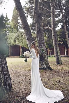 Beautiful Fashion Shoot from Spring 2016 Collection. Find Pronovias Selections at please call for more info. Wedding Robe, Pronovias Wedding Dress, 2016 Wedding Dresses, Bridal Dresses, Wedding Gowns, Backless Wedding, Perfect Wedding Dress, Dream Wedding, Long Sleeve Wedding