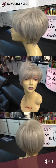 Silver more colors American quality wig heat ok Check out my closet over 700 wigs 5 star posher I'm a REAL Wig Shop I own several stores been on posh for 5 years click my about read my reviews All 5 star these are real photos not stock photos like other sites you get the actual wig no surprises that's why my customers are happy when they get their wig heat resistant look me up Tess Wig Milwaukee adjustable cap I have in all colors this wig is my personal favorite I have it in a real pretty…