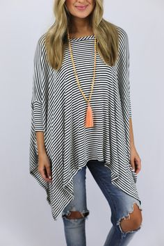 Striped Swing Getaway Top – The Happy Goose Shop