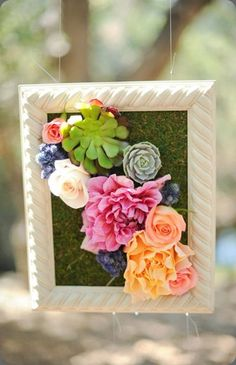 Flowered up picture frame, pixies petals and kate noelle photo