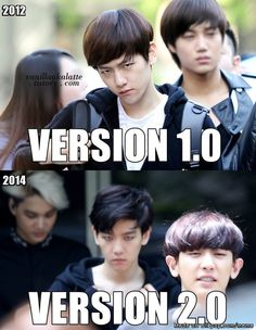 idk should i cry or should i laugh? (P.S  then there's chanyeol in the 2nd pic) | allkpop Meme Center