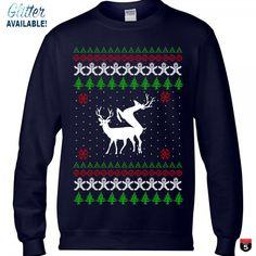 Personalized Christmas crewneck sweater, Custom sweatshirt perfect gift winter fashion Christmas ugly sweater glitter Unisex sizes by on Etsy Ugly Sweater, Ugly Christmas Sweater, Crewneck Sweater, Funny New, Winter Fashion, Crew Neck, Graphic Sweatshirt, Glitter