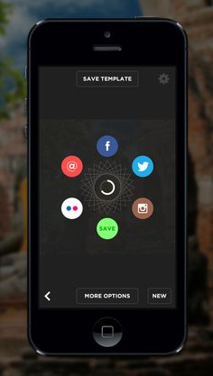 LetterGlow | Circular icon menu in mobile #UI design
